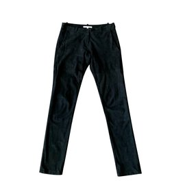Maje-Pantalon daim noir MAJE taille 34-Noir