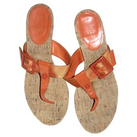 Coach-Wedge sandals-Orange