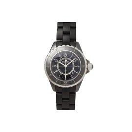 Chanel-J12 watch-Black,Silvery