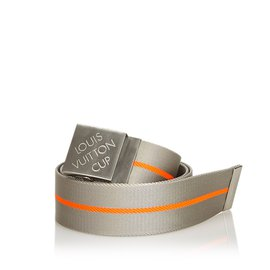 Louis Vuitton-Ceinture en nylon LV Cup-Autre,Orange,Gris