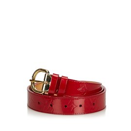 df3ed01482ad ... Louis Vuitton-Monogramme Ceinture Vernis-Rouge