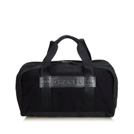 Chanel-Nylon Sports Line Duffle Bag-Marron