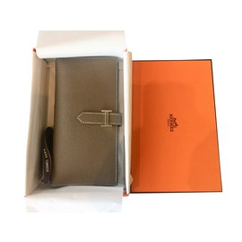 Hermès-Purses, wallets, cases-Beige
