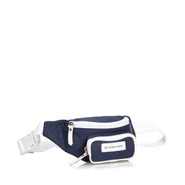 Burberry-Nylon Belt Bag-White,Blue,Navy blue