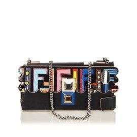 Fendi-Zucca Leather Multicolor Iphone 7 écrin-Noir,Multicolore