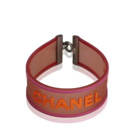 Chanel-Bracelet avec logo-Rose,Rouge