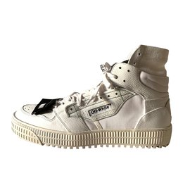 53ce0c6fe30a Off White-Baskets montantes blanches-Blanc ...
