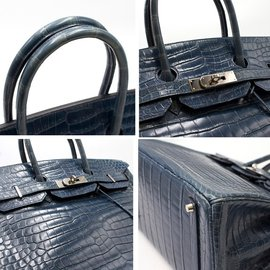 Hermès-Sacs à main-Bleu foncé
