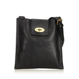 Mulberry-Leather Antony Messenger Bag-Black