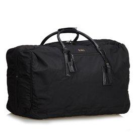 Gucci-Nylon Duffle Bag-Noir