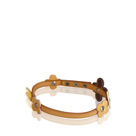 Louis Vuitton-Tour de cou Double Wrap Bracelet Vernis Fleurs-Multicolore,Violet