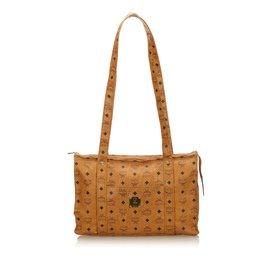 f209b7451431 MCM-Visetos Leather Tote Bag-Brown ...