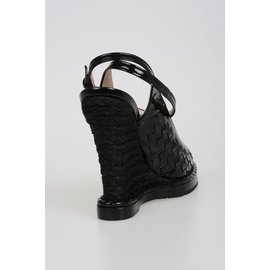 Bottega Veneta-Chaussures compensées Bottega Veneta-Noir