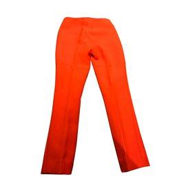 Prada-pantalon Prada en laine et soie orange 40 IT-Orange
