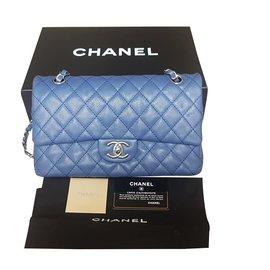 Chanel-Chanel Timeless Classic Flap-Bleu