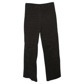 Burberry-Pantalon Burberry à carreaux tissés-Marron