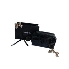 Chanel-CC logo clutch-Black