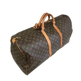 Louis Vuitton-Keepall 60 Louis Vuitton-Marron,Marron clair