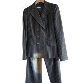 Max Mara-tailleur pantalon-Gris