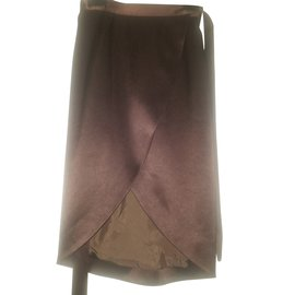 Céline-BEAUTIFUL SKIRT CELINE PORTFOLIO-Dark brown
