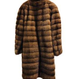 Braschi-Manteaux, Vêtements d'extérieur-Marron
