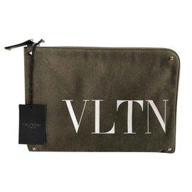 Valentino Garavani-Bags Briefcases-Khaki