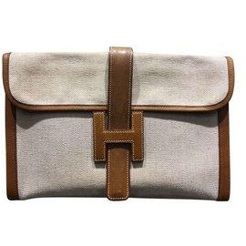 Hermès-Jige clutch bag-Beige