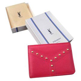 Yves Saint Laurent-Superbe porte carte Yves Saint Laurent-Rouge