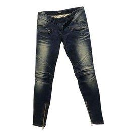 Balmain-jeans-Bleu