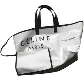 Céline-Céline Médium Tote-White