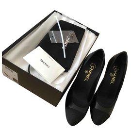 Chanel-Escarpins Chanel-Noir ... 2f673b3ea81
