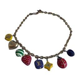 Louis Vuitton-collier de chaîne-Doré