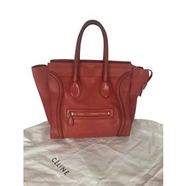 Céline-luggage-Red