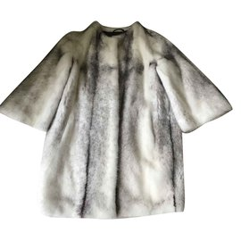 Yves Salomon-Yves Salomon mink coat-White