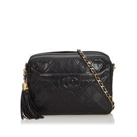 Chanel-Sac appareil photo matelassé en cuir d agneau-Noir ... 7eec0cd9d039