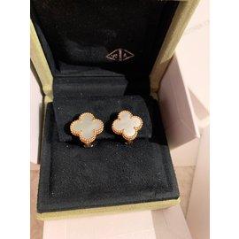 Van Cleef & Arpels-Vintage Alhambra-Blanc