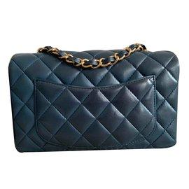 Chanel-Timeless Mini flap-Dark blue