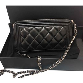 Chanel-Boy's clutch bag-Black