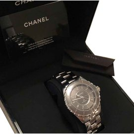 Chanel-Montre J12 Chanel 38 mm-Gris