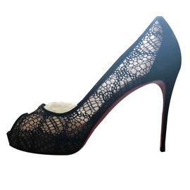 Christian Louboutin-Very lace 100 rete-Black