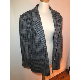 Hermès-Hermes Prince of Wales Jacket-Grey