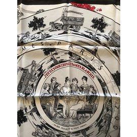 Hermès-Carré Hermès 70 Jeu des Omnibus et Dames Blanches-Blanc