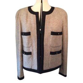 Chanel-The Little Chanel Jacket-Beige,Dark brown