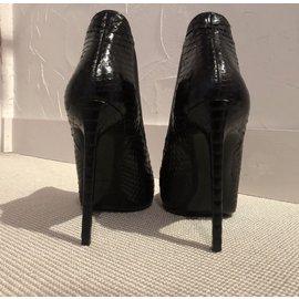 Yves Saint Laurent-Bottines de tes carpet-Noir,Blanc