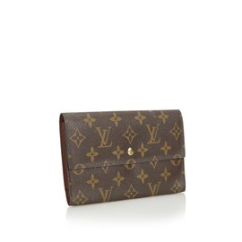Louis Vuitton-Monogram Porte Tresor International-Marron