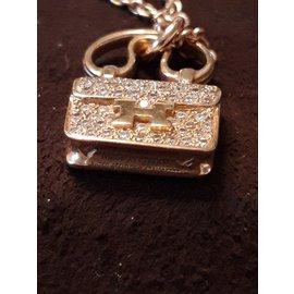 Hermès-amulet constancy rose gold-Pink
