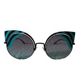47ca0bd29b901b Fendi-Lunettes de soleil oeil de chat-Multicolore ...