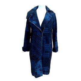 Kenzo-Denim vintage coat-Blue