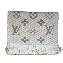 Louis Vuitton-ÉCHARPE LOGOMANIA-Gris