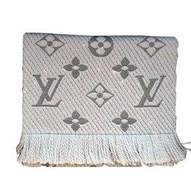 Louis Vuitton-ÉCHARPE LOGOMANIA-Gris